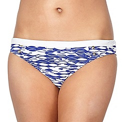 J by Jasper Conran - Designer blue fishes bikini bottoms