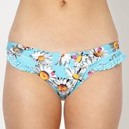 Light blue folded daisy bikini bottoms