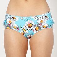 Light blue daisy bikini shorts