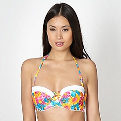 Floozie by Frost French - Orange floral balcony bikini top