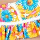 Floozie by Frost French - Orange floral skirted bikini bottoms Alternative 2