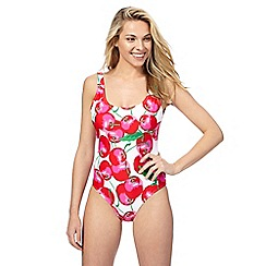 Red Herring - Red cherry print swimsuit