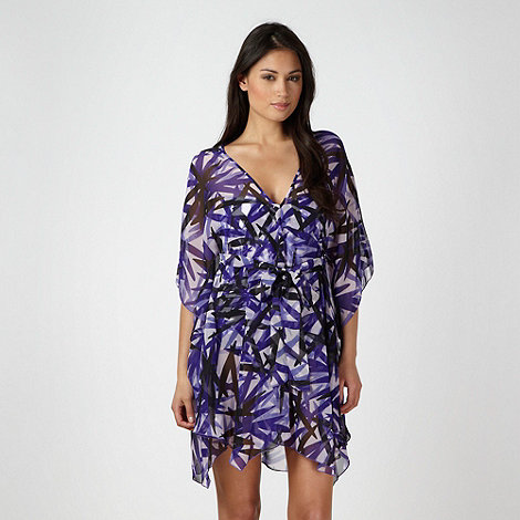 J by Jasper Conran - Purple ruched leaf kaftan