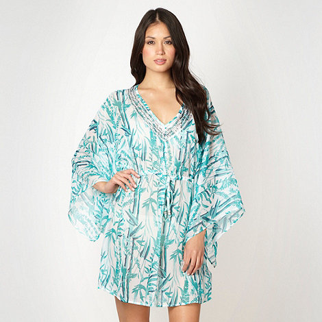 Beach Collection - Green bamboo kaftan