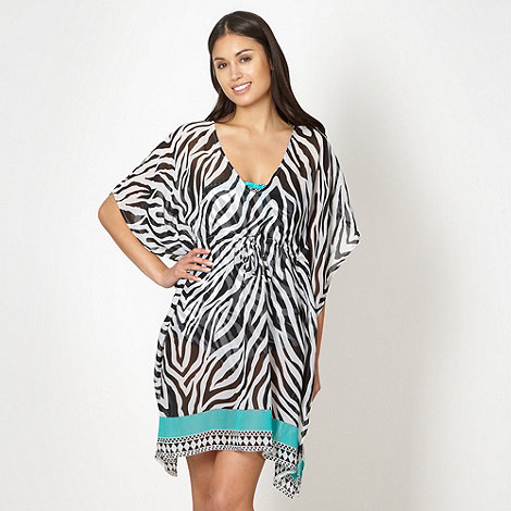 Beach Collection - White zebra kaftan