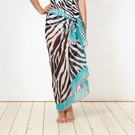 Beach Collection - White zebra sarong