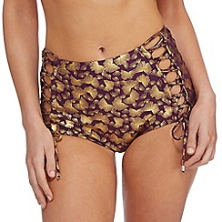 Butterfly by Matthew Williamson - Purple high waist bikini bottoms