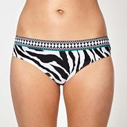 White zebra bikini bottoms