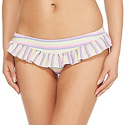Floozie by Frost French - Multi-coloured striped ruffle bikini bottoms