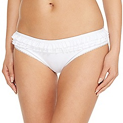 Floozie by Frost French - White ruffle bikini bottoms