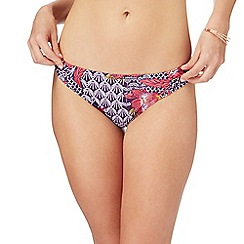 Beach Collection - Multi-coloured floral print bikini bottoms