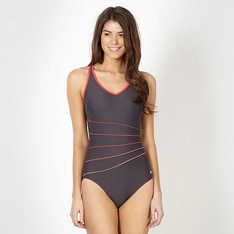 Maine New England - Charcoal high leg swimsuit