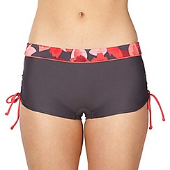Maine New England - Grey floral ruched shorts