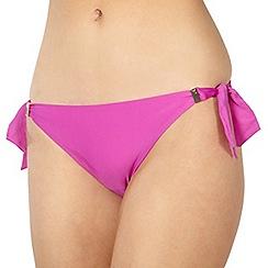 Reger by Janet Reger - Designer dark pink bunny tie bikini bottoms