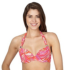 J by Jasper Conran - Designer pink striped halter neck underwired bikini top