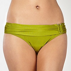 J by Jasper Conran - Designer green ruched fold bikini bottoms