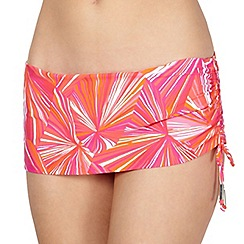 J by Jasper Conran - Designer pink striped bikini skirt pants