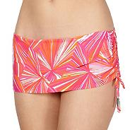 Designer pink striped bikini skirt pants