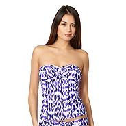 Purple ikat bandeau tankini top