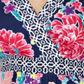Beach Collection - Navy floral beach dress Alternative 2