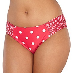 Gorgeous DD+ - Red spotted bikini bottoms