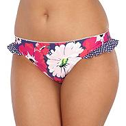 Navy floral spotted frill bikini bottoms