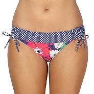 Navy floral spotted folded bikini bottoms
