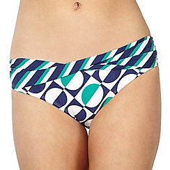 Principles by Ben de Lisi - Designer blue spotted twist fold bikini bottoms