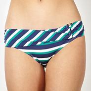 Designer navy folded chevron bikini bottoms