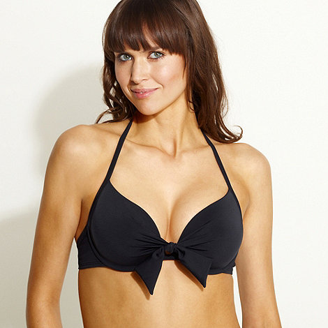 Beach Collection - Black gel filled bikini top