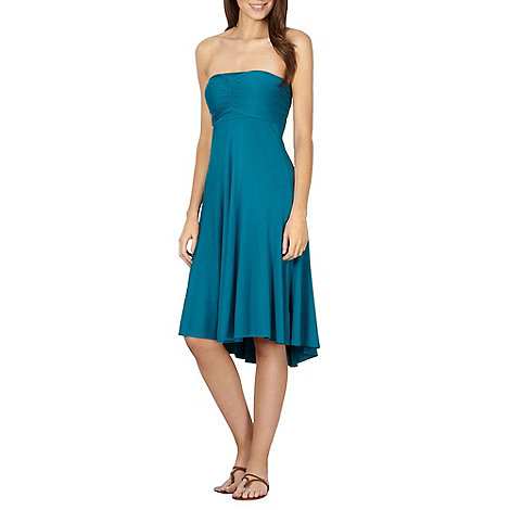 Beach Collection - Blue multiway bandeau dress