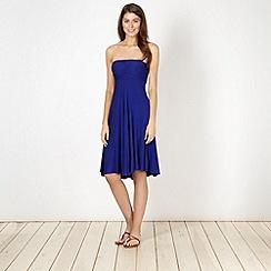 Beach Collection - Dark blue multiway bandeau dress