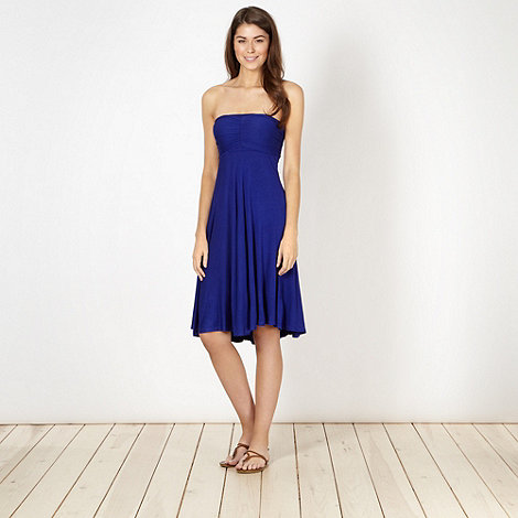 Beach Collection - Dark blue multiway bandeau dress