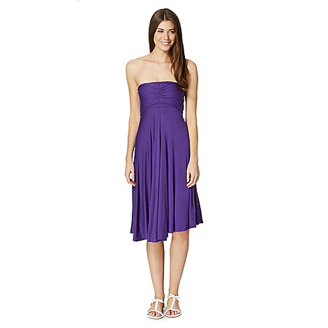 Beach Collection - Purple multiway bandeau dress