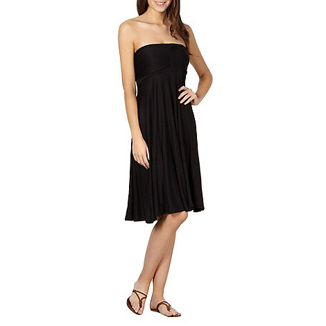 Beach Collection - Black multiway bandeau dress