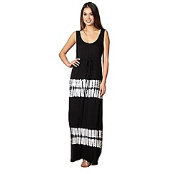Beach Collection - Black jersey tie dye maxi dress