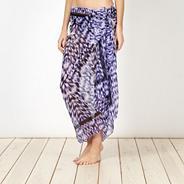 Purple ikat sarong