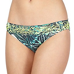 Butterfly by Matthew Williamson - Designer green leaf bikini pants