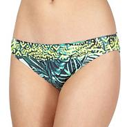 Designer green leaf bikini pants