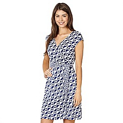 Principles by Ben de Lisi - Designer blue spotted circle sun dress