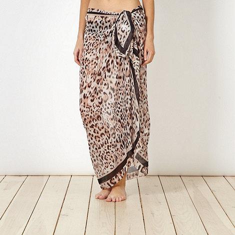 Reger by Janet Reger - Designer beige leopard digital sarong