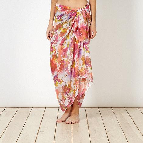 Reger by Janet Reger - Designer pink digital floral sarong