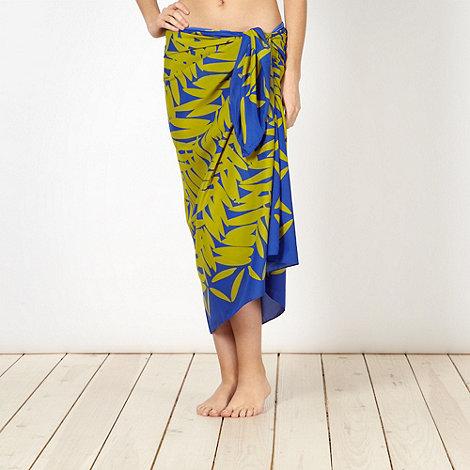 J by Jasper Conran - Designer green leaf sarong