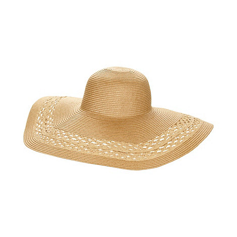 J by Jasper Conran - Designer natural woven floppy hat