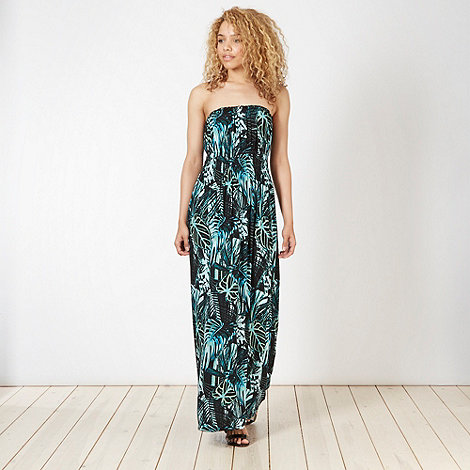Butterfly by Matthew Williamson - Designer green jungle leaf maxi dress