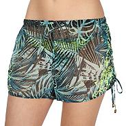 Designer green leaf shorts