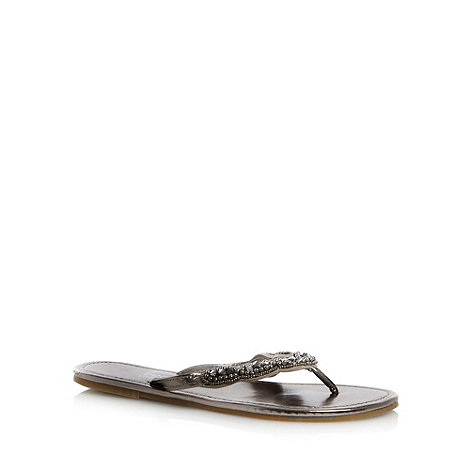 Beach Collection - Metallic hard sole beaded sandals