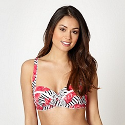 Floozie by Frost French - Dark pink striped rose underwired bikini top