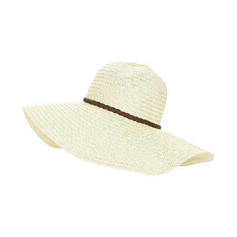 Beach Collection - Natural metallic thread floppy hat