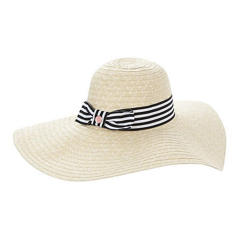 Floozie by Frost French - Natural striped trim hat